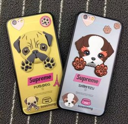 Wholesale Tie Fit Baby - Cute cartoon kitty puppy plastic case cover for iphone 6 6s plus baby dog glasses cat sup Fashion cool red Tie cat
