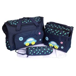 Wholesale Baby Bottles Pack - High Quality Multifunction Tote Packages Baby Shoulder Diaper Bags Durable Nappy Bag Baby's Feeding Bottle Mummy Packs 4PCS Set