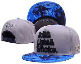 Wholesale Roll Drops - hot fashion roll light smoke snapback hats Baseball cap For Men Women Casquette Gorras sports Hip Hop cap Bone brand sun hat Drop Shipping