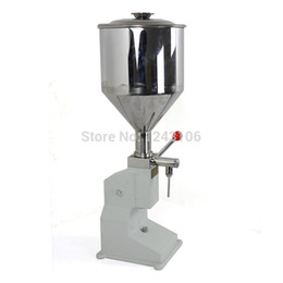 Wholesale Manual Liquid Filling Machines - A03 stainless steel Manual paste liquid filling machine,small bottle handle operate filling machine.5-50ml,tank capacity 10kg