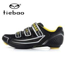 Wholesale Tiebao Women - Wholesale-TIEBAO Professional Road Bike Shoes Self-locking Racing Bicycle Cycling Shoes Men Women Breathable Sport Shoes Sneakers