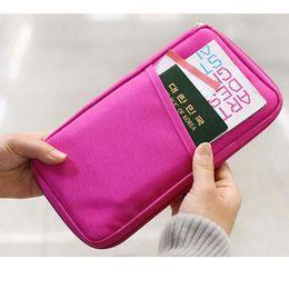 Wholesale slots cash - 7 Color high quality passport holder card holder credit card holder ID Cash Holder Organizer Bag Wallet