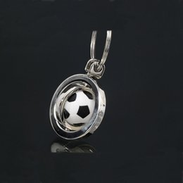 Wholesale Rotating Keychain - Hot sale 2017 European football Cup surroundings keychain Sport Style Ball Keychain Rotate Football Keyring holder Sport Men