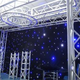 Drap usa en Ligne-toile de fond d'étape de toile de fond de mariage d'étoile menée de rideau en 3mx6m avec la fonction multi de contrôleur dmx
