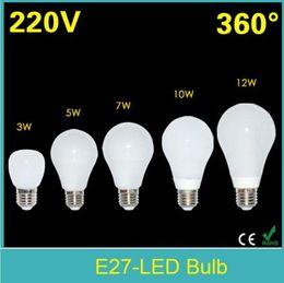 Wholesale E27 Led Corn Globe - SMD2835 E27 led light bulb 3W 5W 7W 10W 12W Led lamp 110V 220V Bubble Ball Bulb Lamps 360 Degree Corn Lighting