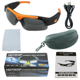 Wholesale Hd Camera Glasses Sports - 720P 1080P HD SunGlasses Camera Ski Sport Waterproof Glasses Bike Action Security no SPY Without Sd Card