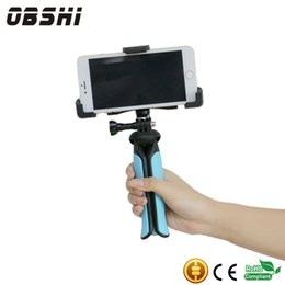 "Wholesale Iphone Camera Holder - Universal Mini Tripod 75"" Rotation Desktop & Handle Stabilizer For Mobile Phone Camera Free Gift With Cell Phone Holder"