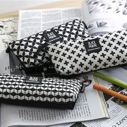 Wholesale Cheap Wholesale School Supplies - Wholesale-2016 pen box pouch bag bags school canvas cute cheap art supplies stationery pencil case vintage stationery large South Korea