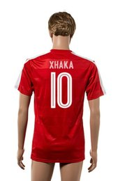 Wholesale Cheap Shirts For Soccer - 2016 Euro Cup Switzerland Home Jersey #10 XHAKA Soccer Wears for Men Best Thailand Quality Soccer Uniforms Cheap Customized Football Shirts
