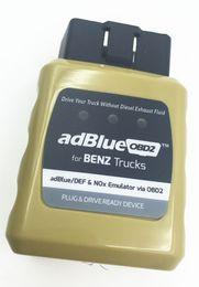 Wholesale Mercedes Obd2 Codes - 5pcs lot Emulador de Adblue Emulator AdblueOBD2 For Mercedes Benz Heavy Duty Truck Diagnostic Scanner OBD2 Diesel Trucks Scan Tool