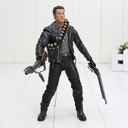 Wholesale Arnold Toy - Terminator 2 Judgment Day figure T-800 Arnold Schwarzenegger boxed PVC Action Figure Collectible Model Toy approx 18cm free shipping