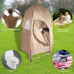 Wholesale Bathroom Construction - Wholesale- Outlife Waterproof 1 Person Outdoor Hiking Camping Tent Single Tent Collapsible Shower Bathroom Toilet Changing Room Shelter