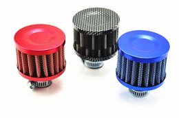 Wholesale flow intake - 12mm Red Car Cone Cold Air Intake Filter SUV Truck Car Air Intake Filter High Flow Washable Reuseable Fuel Economy Upgrades Kit