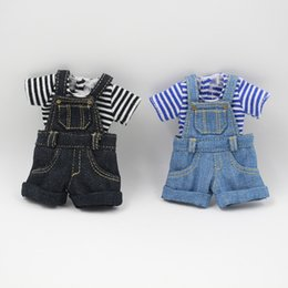 Wholesale Doll Overall - Fortune Days Blyth Doll Denim overalls For The 12 Inch Doll JOINT Body Cool Dressing Factory Blyth