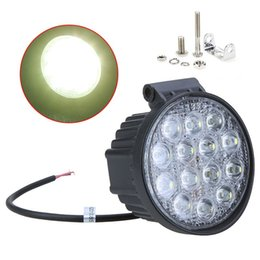 Wholesale Waterproof Led Lights For Atv - New 42W Off Road Flood Light Waterproof Round LED Work Light LED Flood Lamp for Car Truck Boat SUV ATV Hot Selling order<$18no track
