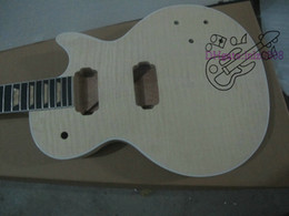 Wholesale Electric Guitars Kits - Custom Shop Mahogany Body Unfinished Electric Guitar Kit With Flamed Maple Top