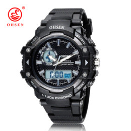 Wholesale Ohsen Military Watch - 2016 Military Sports watch for man New Watch Fashion Watch Digital LED Quartz Wristwatches OHSEN Luxury Brand relogio masculino