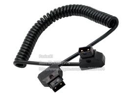 2019 dslr rig mount DTAP удлинитель, ПУ спиральный D-Tap между мужчинами соединительный кабель для DSLR буровой установки питания V-Mount Anton батареи/Бесплатная доставка/1 шт. дешево dslr rig mount