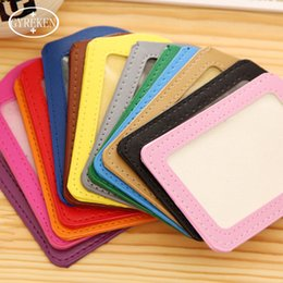 Wholesale Work Permit Card - 50PCS Wholesale Work Permit Colorful Vertical Name Credit Card Holders PU Neck Strap Card Bus Bank Card ID Holders Identity Card jacket