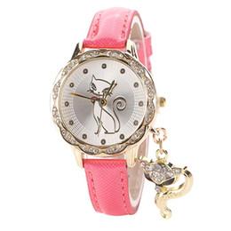 Wholesale Ladies Stylish Watches - Relogio Feminino 2016 New Fashion Women Lady Palm Civet Pendant Leather Dress Watch Stylish Ladies Rhinestones Quartz Wristwatches