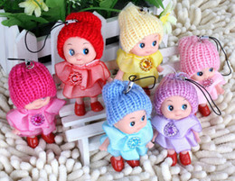 Wholesale Foam Key Chain - Wholesale- 1PCS Random Mini Ddung Doll Best Toy Gift for Girl Confused Doll Key Chain Phone Pendant Ornament High Quality