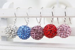 Wholesale Mix Order Stainless Steel Earrings - 2016 Newest Fashion Jewelry NEW Arrived Earring colorful Crystal earring 30% Real Sliver Mixed order accept