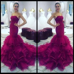 Wholesale Sexy Catch - Fuchsia Mermaid Prom Dress 2016 Sweetheart Pleated Slim Formal Gowns Robe De Soiree Eye-Catching Vestidos De Festa Custom size