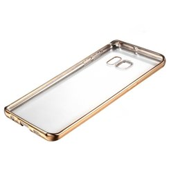 Wholesale Gild Phone - Luxury style Plating Gilded TPU Phone Case For Samsung Galaxy S7 edge silicone soft Back Case Cover