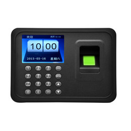 Wholesale Biometric Time - Biometric Fingerprint Time Attendance Clock Recorder Employee Digital Electronic English Voice Reader Machine 2.4 Inch TFT Screen