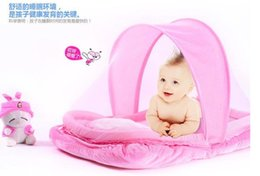 New Foldable Baby Crib With Mosquito Net Tent Bed with pillow u0026 pad  sc 1 st  DHgate.com & Shop Tent Baby Mosquito UK | Tent Baby Mosquito free delivery to ...