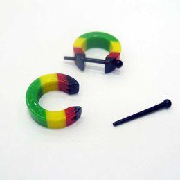 Wholesale Helix Piercing Earrings - Acrylic Half Circle Ear Piercing Cartilage Cuff Lobe Conch Helix Tragus Earring Shield Ring Fake Plug Body Jewelry BJ7314