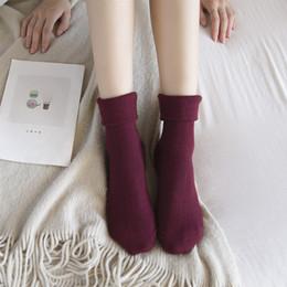 Wholesale Angora Women - Soft Women Knee-Socks High Quality Cotton and Angora wool Boots Socks Fashion Solid Color Girls Leg Warmers
