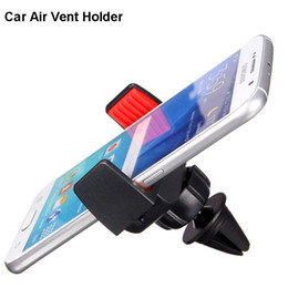 Wholesale Iphone Car Vent Cradle - Car Air Vent Mount Universal Cell Phone Holder Cradle Clip Mounting Bracket Suporte Para Carro for iPhone 5SE 6S 4.7
