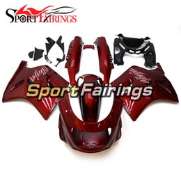 Wholesale zx11 fairings - Fairings For Kawasaki ZX11 ZZR1100D 1993-2003 ABS Injection Motorcycle Fairing Kit Cowling Red Bodywork Frames Covers New Panels