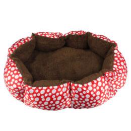 Wholesale Soft Pet Dog Nest Puppy - 2015 New Soft Fleece Pet Dog Nest Bed Puppy Cat Warm Bed House Plush Cozy Nest Mat Pad Dot 4 Colors Freeshipping Smile