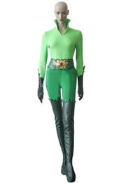 Wholesale Robin Halloween Costumes - Movie Batman and Robin Custom Made Poison Ivy Cosplay Costume Cosplay Accessories Green Uniform Outfit Halloween