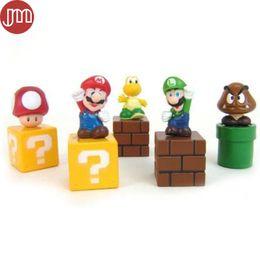 Figurine anime online-Nuovo 5 pz Super Mario Figurine Toy Action PVC Figure Bambola Anime Juguetes Omini Cake Toppers 5-6 cm Regalo Dei Capretti