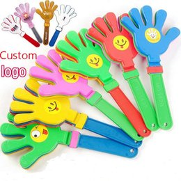 Wholesale Hand Clappers - Hand Clappers Noisemakers Party Plastic Hand clapper clap toy cheer leading clap for Olympic game football game Noise Maker Baby Kid Pet Toy