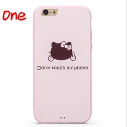 Wholesale Case For Kitty - 2016 Newest transparent TPU bling 3D lovely cartoon painting hello kitty mobile cover cellphone case for iPhone
