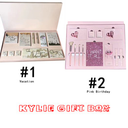 Wholesale Color Bug Set - 2017 kylie gift box Bundle Makeup set take me on vacation,Send me more Nude,Shinny Dip,Ultra glow,the wet set,June bug,Gloss DHL