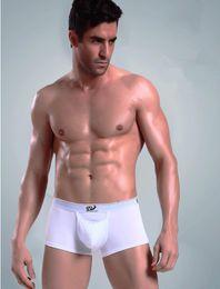 Wholesale Wj Cotton Men - WJ Cotton Sexy U Convex Mens Boxers Healthy Male Underwear Men Shorts