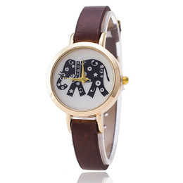 Wholesale National Wind Watch - Han edition watch national wind elephant pattern Fine leather strap quartz performance goods wholesale fashion small dial