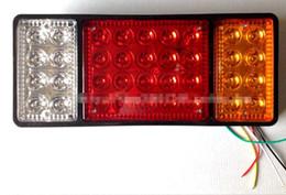 Wholesale 24 Trailer - 140-2 led tail lamp truck trailer cart electronic taillight 12 v   24 vled Turn signal Brake lights tail light assembly