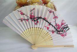 Wholesale Perfect Cherry Blossoms - 2016 new 300pcs lot cherry blossom silk hand fan perfect party favor or wedding favor