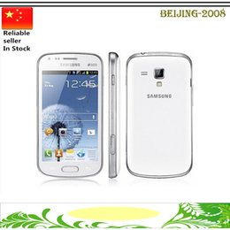 "Wholesale Cell Galaxy S - Refurbished Original Samsung Galaxy S7562 S Duos Cell Phone Android 4.0"" GPS WIFI 5MP Camera Dual Sim"