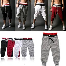 Wholesale Beige Slacks Men - Wholesale-Men Baggy Jogger Casual Trousers Training Dance Sports Harem Pants Slacks