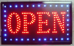 Wholesale Inch Led Open Sign - 2016 LED Neon Sign OPEN Animated LED OPEN Neon Signs Led signage billboard 10*19 inch wholesale