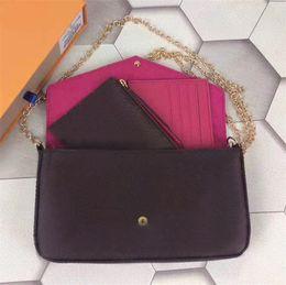 Wholesale Buckle Messenger Bags - Leather Fashion Sweet Lady Mini Messenger Bag WalletLady Buckle Chain IrregularClamshellShoulder Small Square Bag