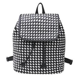 Wholesale Shoulder Bag Knitting Pattern - The Female PU Leather Women knitted pattern Backpack Bags Women Ladies Bags Vintage Students Shoulder Bag