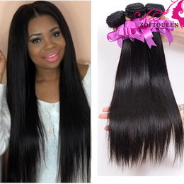 Wholesale Wholesale Brazillian Remy Weave - Grade 8A Virgin soft Unprocessed Brazillian Straight Hair 4Pcs Lot Natural Color Dyeable Remy Hair Weave Peruvian Brazilian Virgin Hair